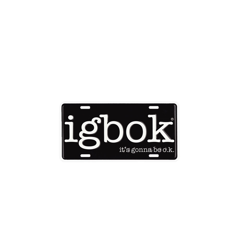 Igbok License Plate Product Image On White