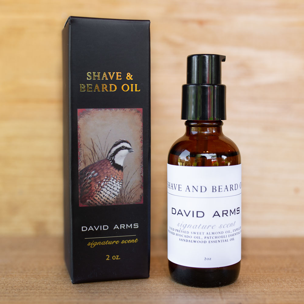 David Arms Shave & Beard Oil – Signature Scent