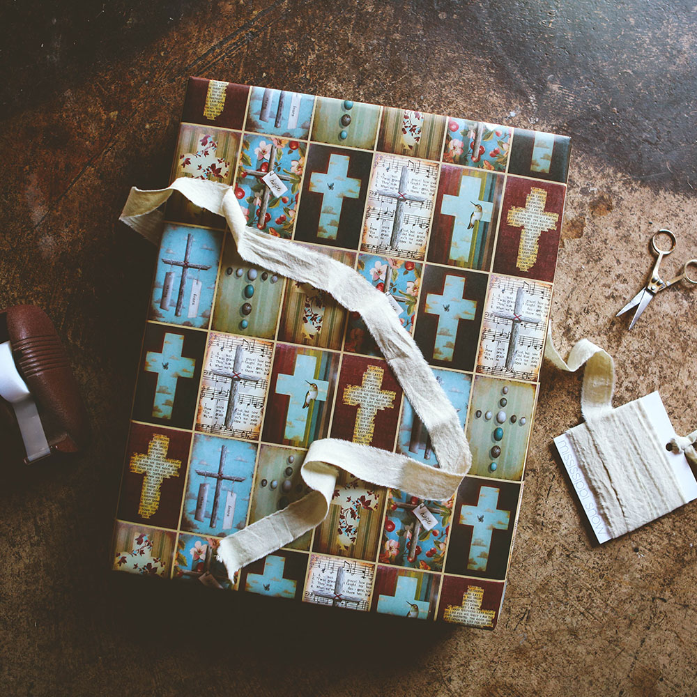 """Crosses"" Wrapping Paper"