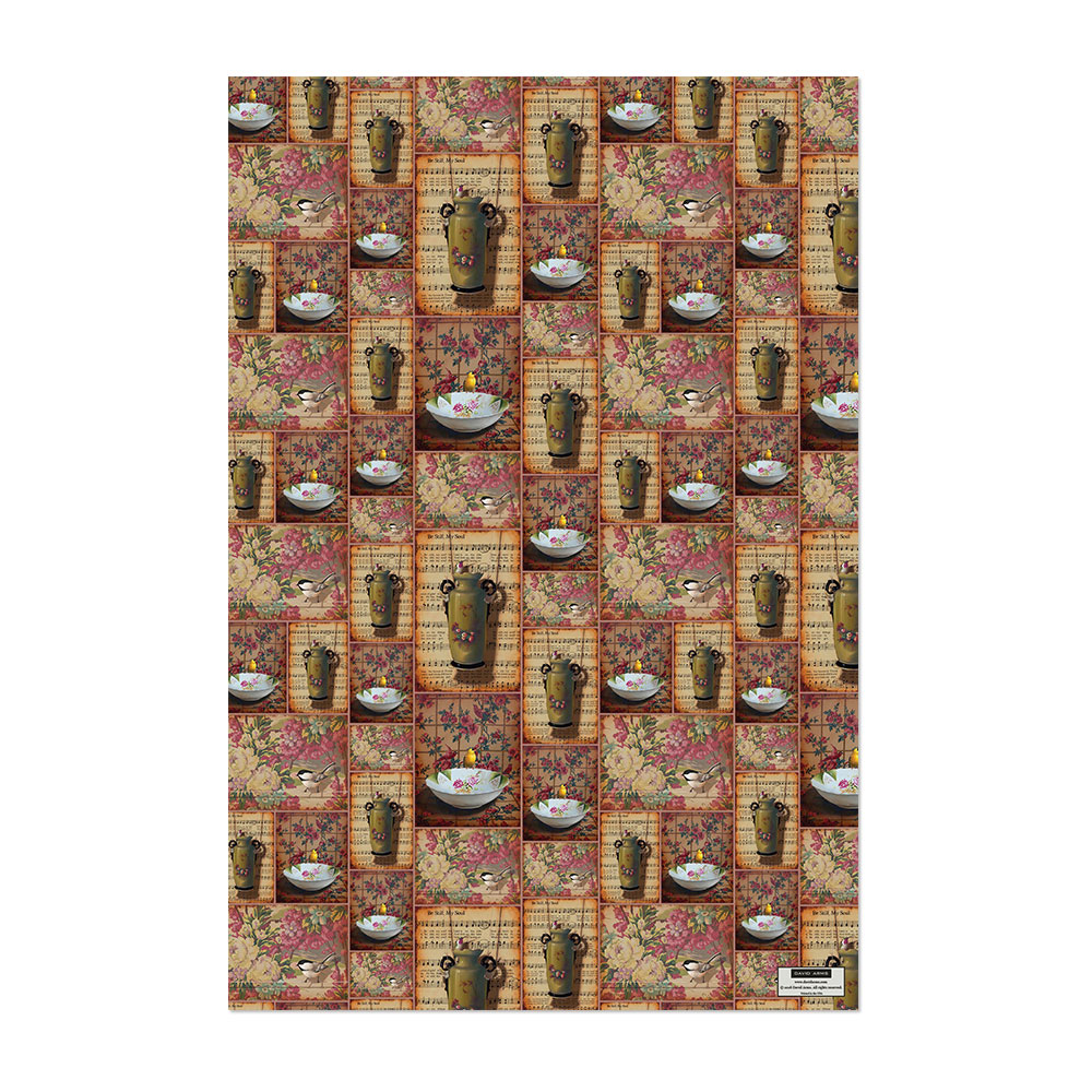 Floral Wrapping Paper Product Image Hover