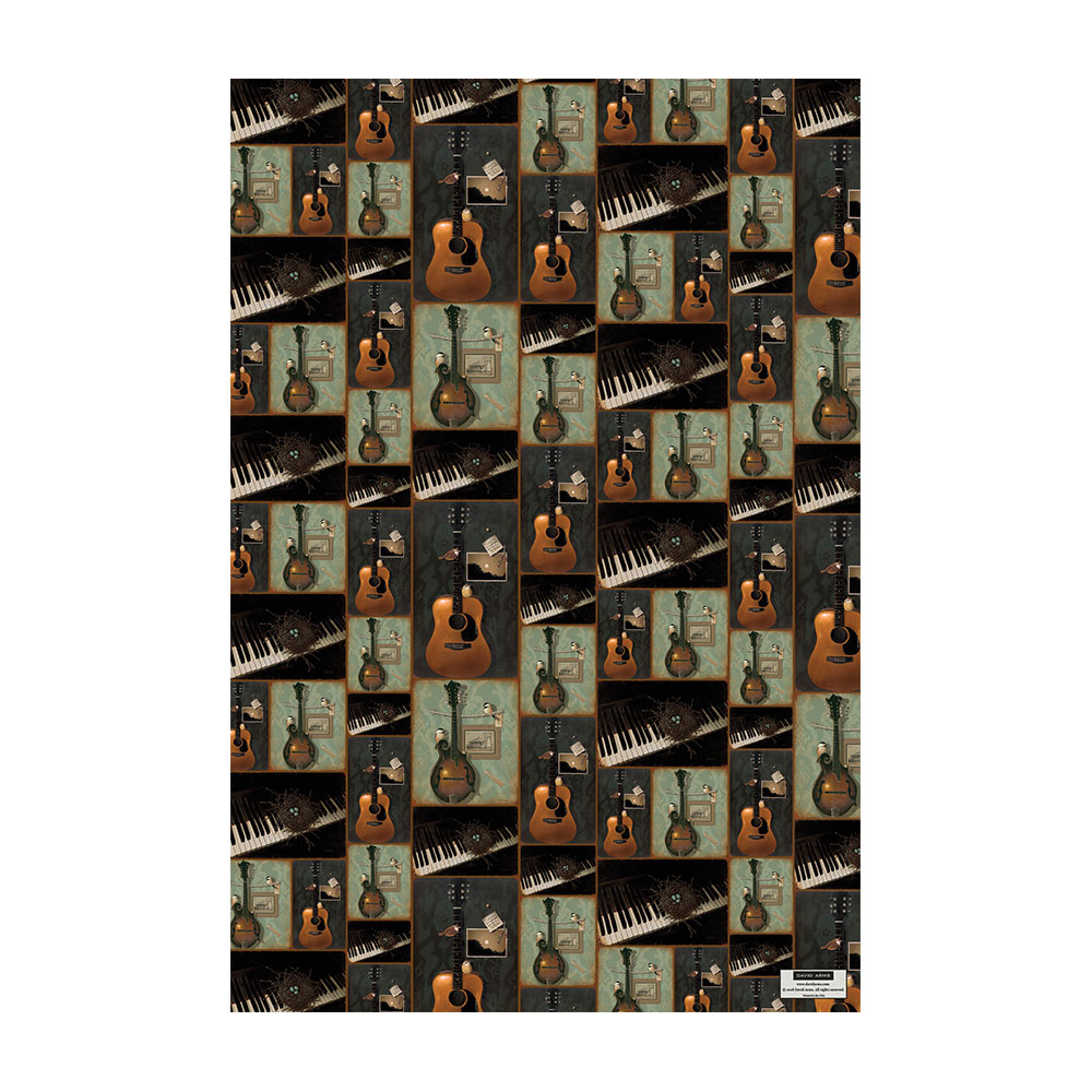 Music Wrapping Paper Product Image Hover