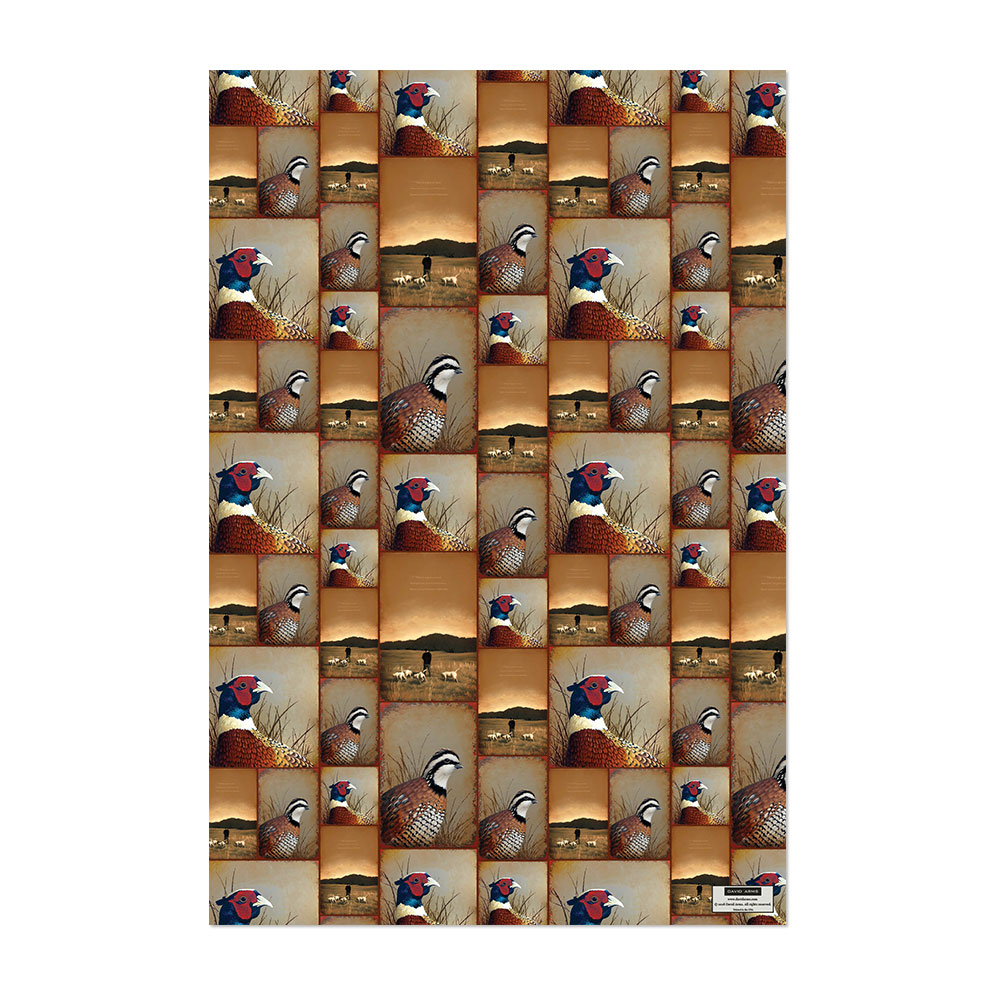Quail Pheasant Wrapping Paper Product Image Hover