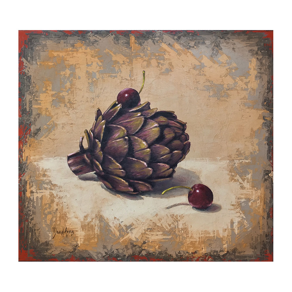 Artichoke & Cherries • 19×21