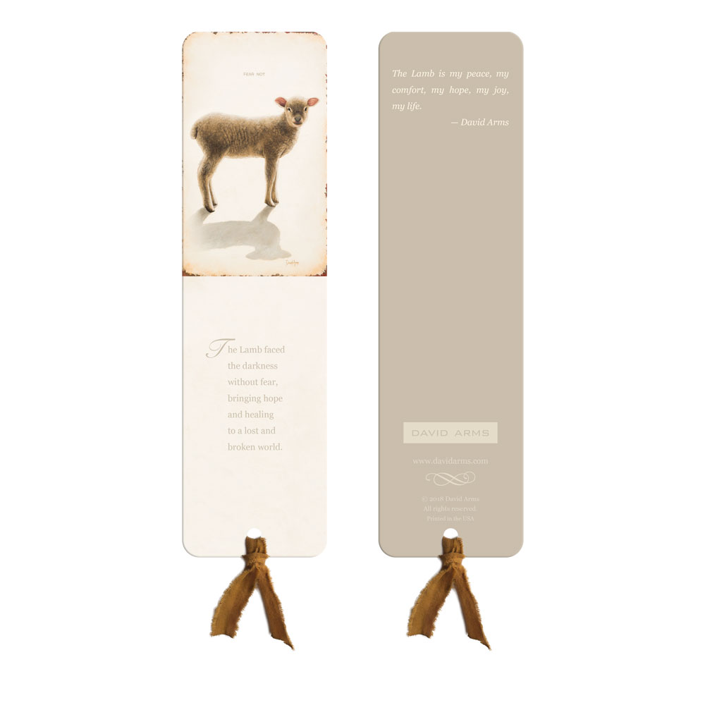 """Fear Not"" (Lamb) Bookmark"