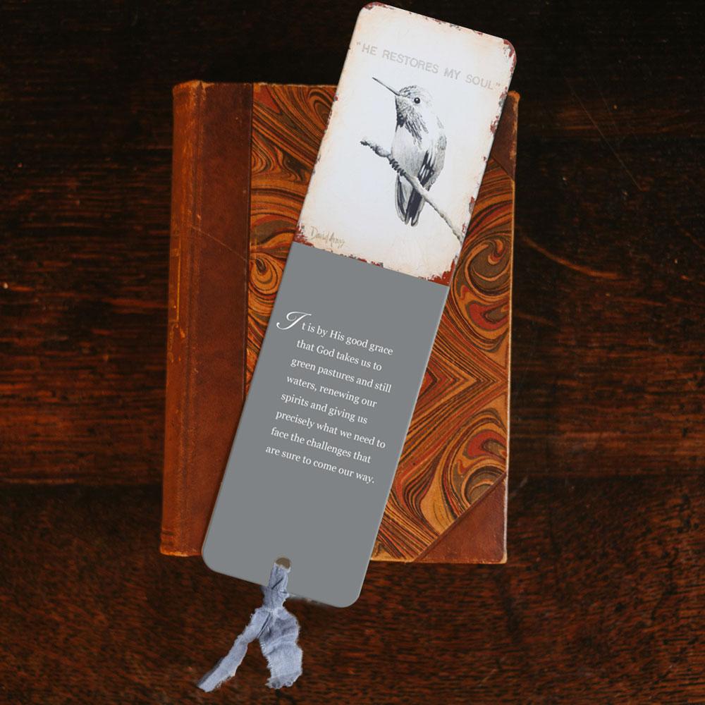 """He Restores My Soul"" Bookmark"