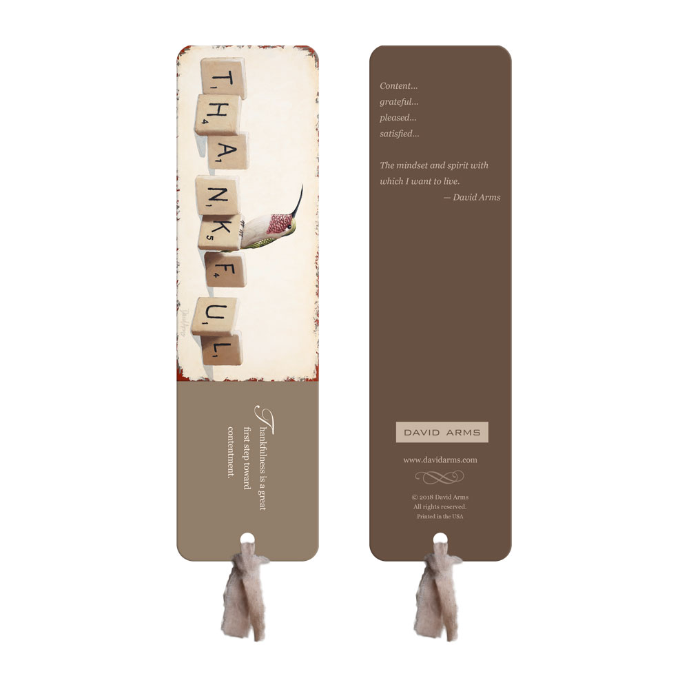 """Thankful"" Bookmark"