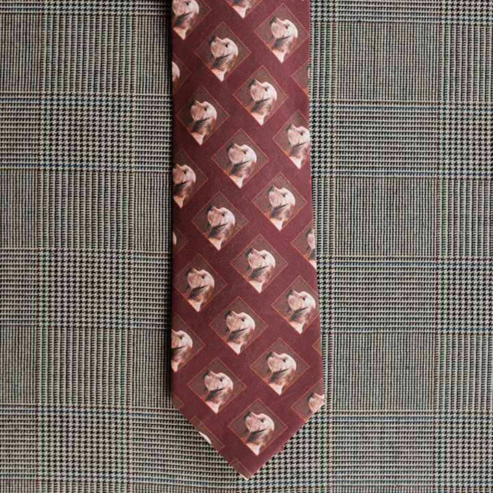 Dog Necktie (Burgundy)