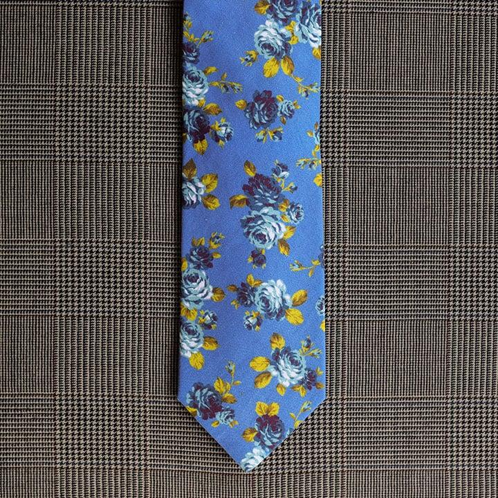 Floral Necktie (Blue)