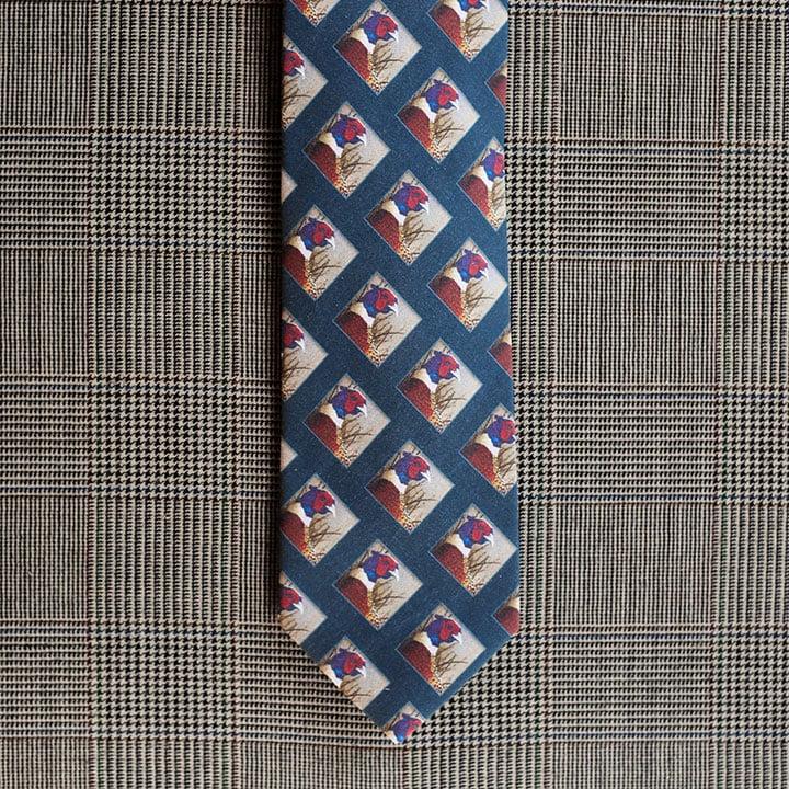 Pheasant Necktie (Teal)