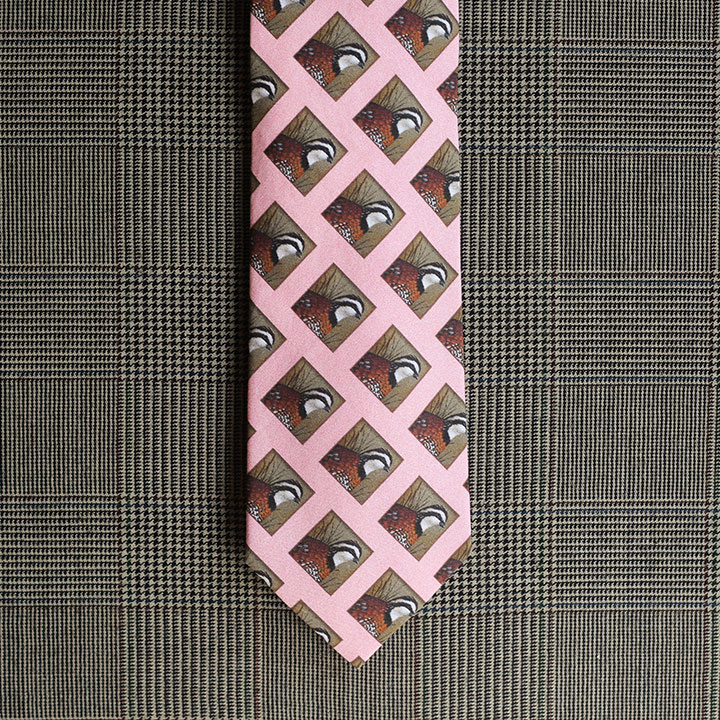 Quail Necktie (Pink)