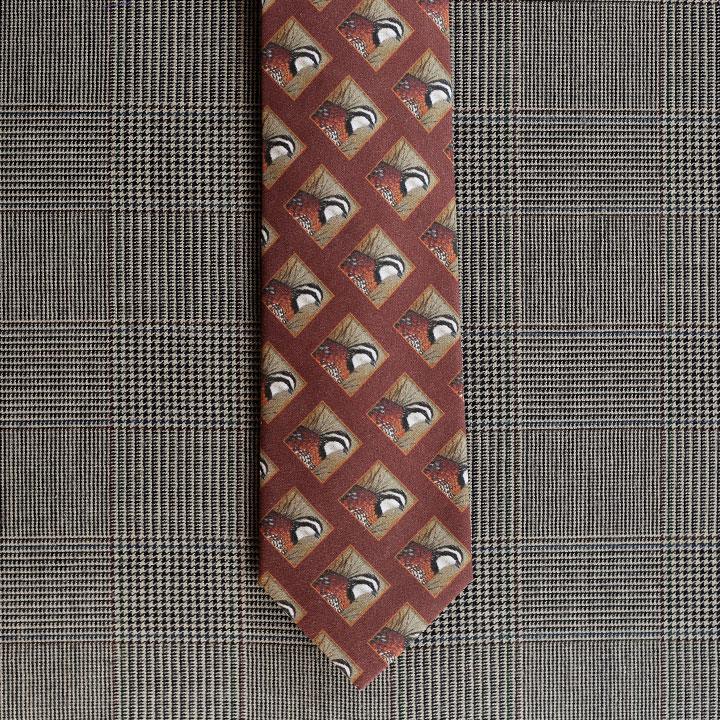 Quail Necktie (Rust)