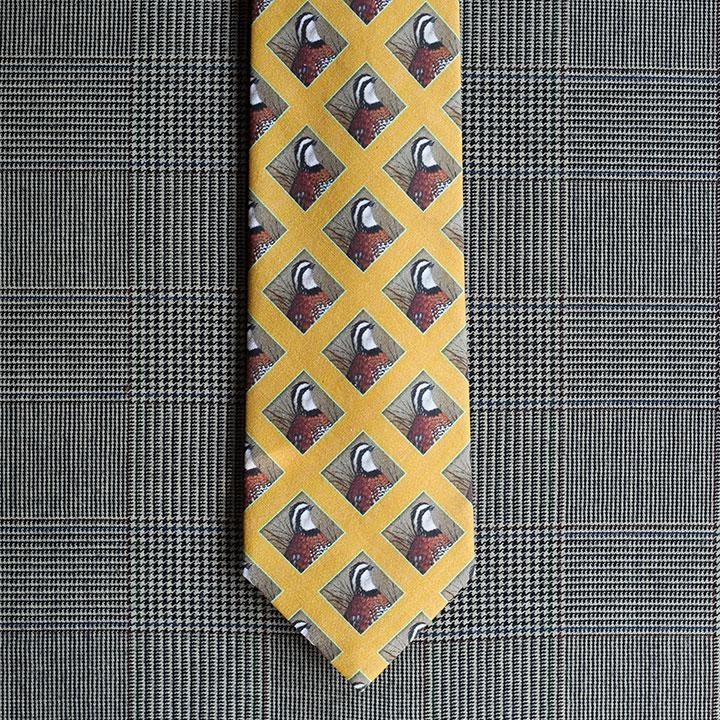 Quail Necktie (Gold)