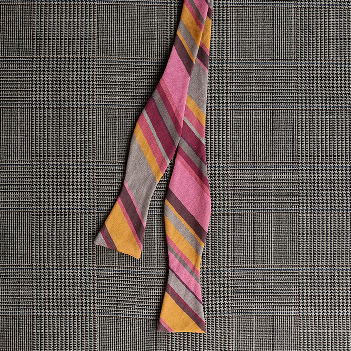 Stripe Bow Tie (Pink & Gold)