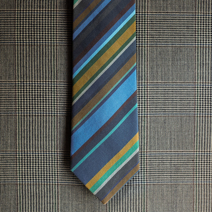 Stripe Necktie (Blue)