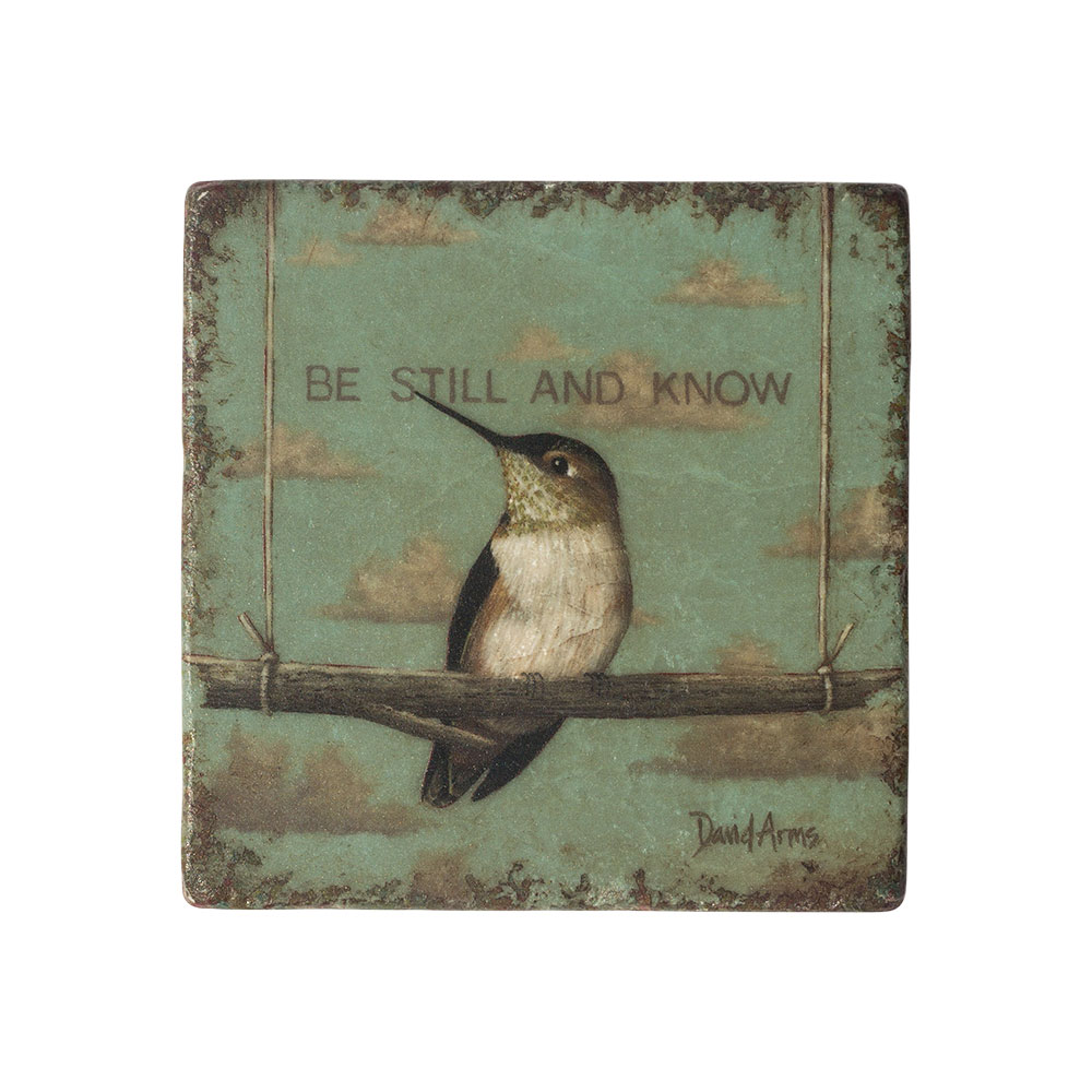 """Be Still And Know"" Marble Coaster"