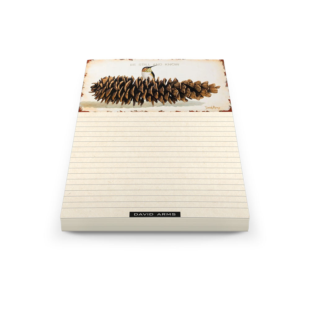 be-still-and-know-pine-cone-notepad-product-image-hover