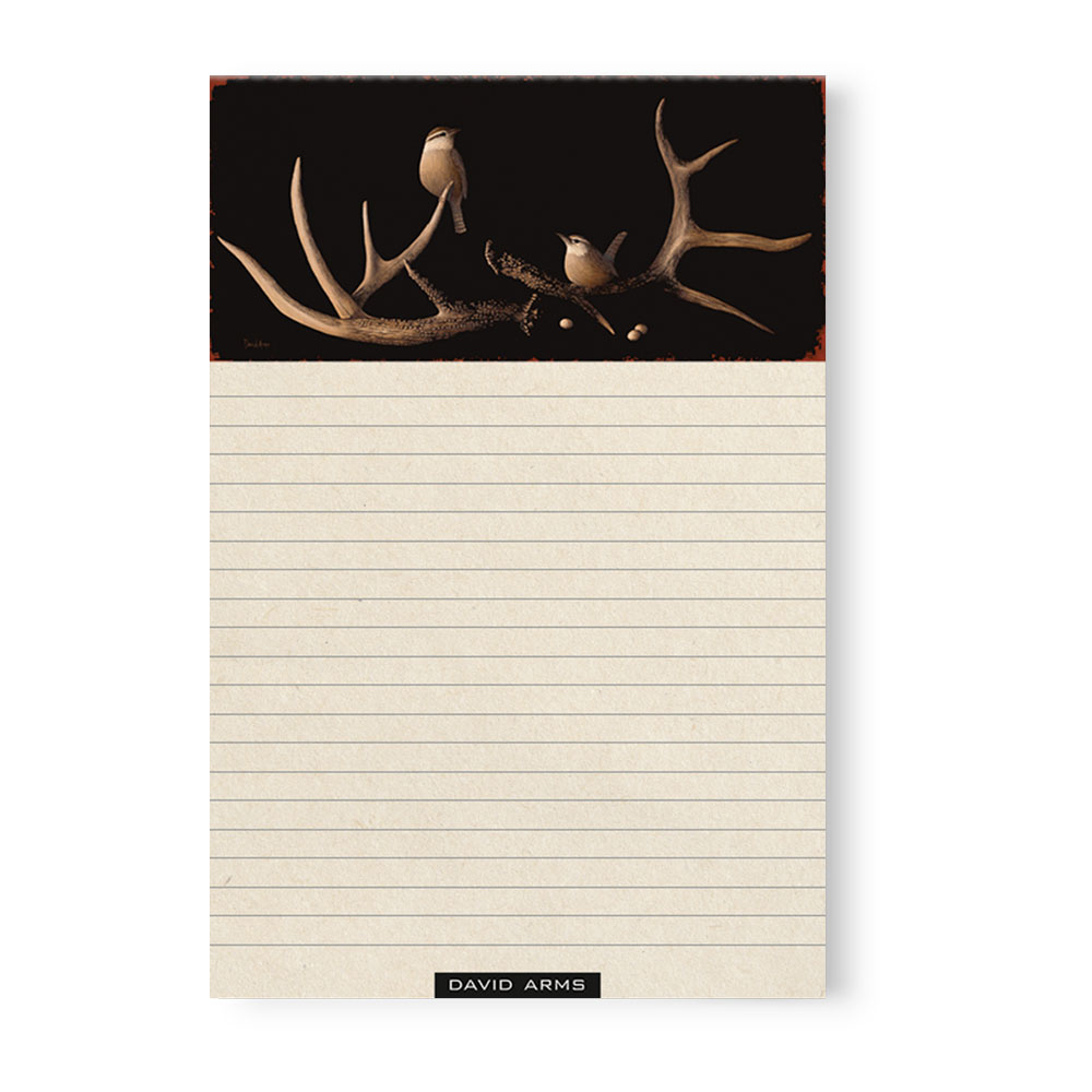 """Faith"" (antlers) Notepad"