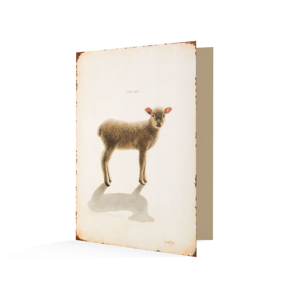 """Fear Not"" (Lamb) Notecards"