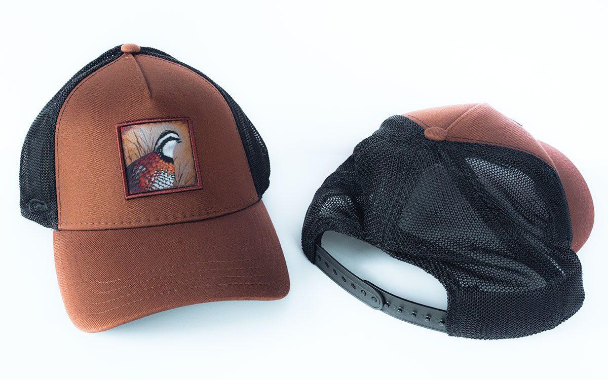 brown-black-quail-cap-front-back-gallery-image