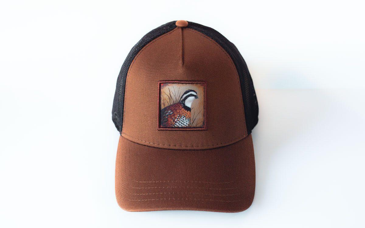 brown-black-quail-cap-front-gallery-image
