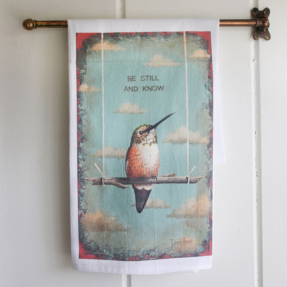 """Be Still And Know"" Flour Sack Tea Towel"