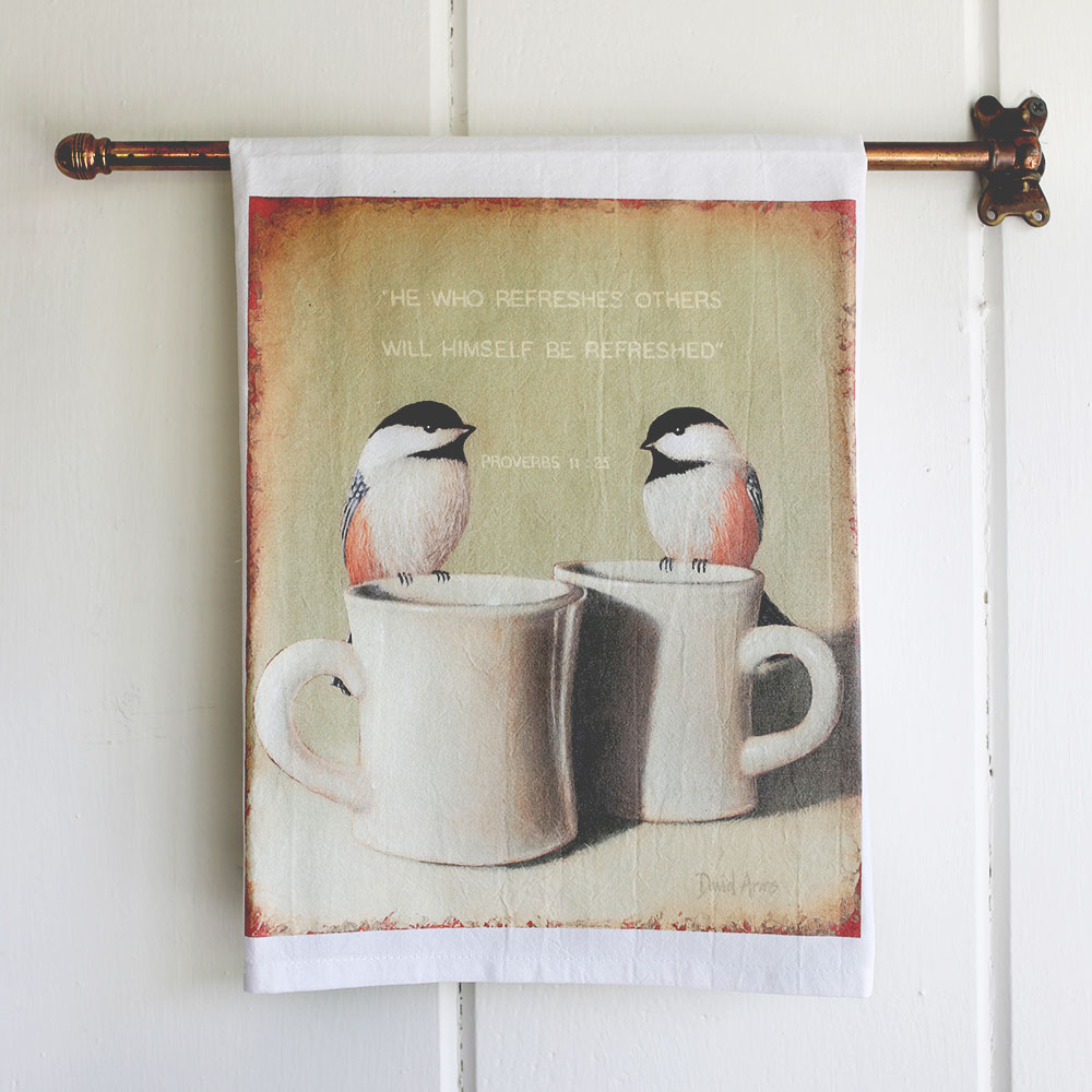 """Refresh"" Flour Sack Tea Towel"
