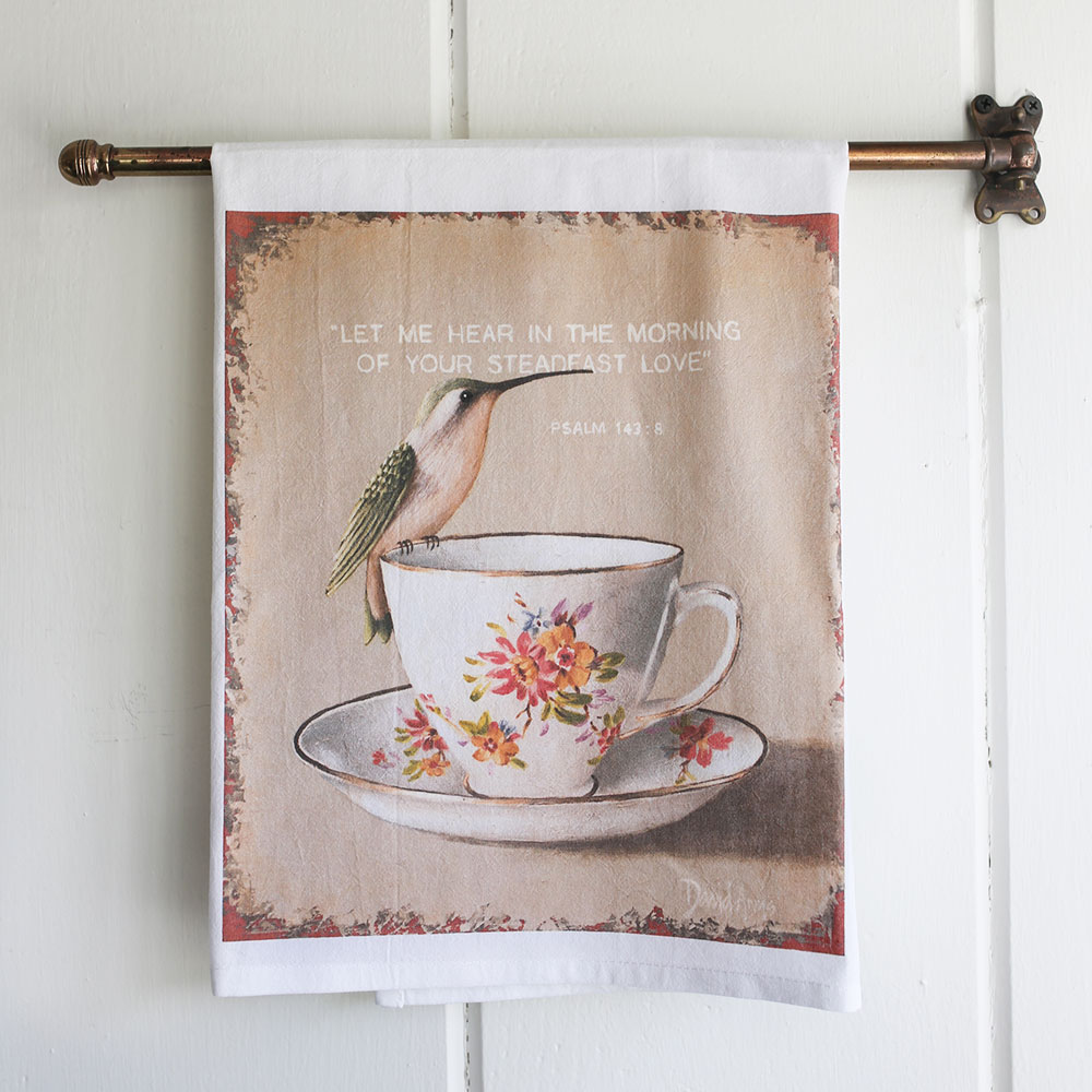 """Steadfast"" Flour Sack Tea Towel"