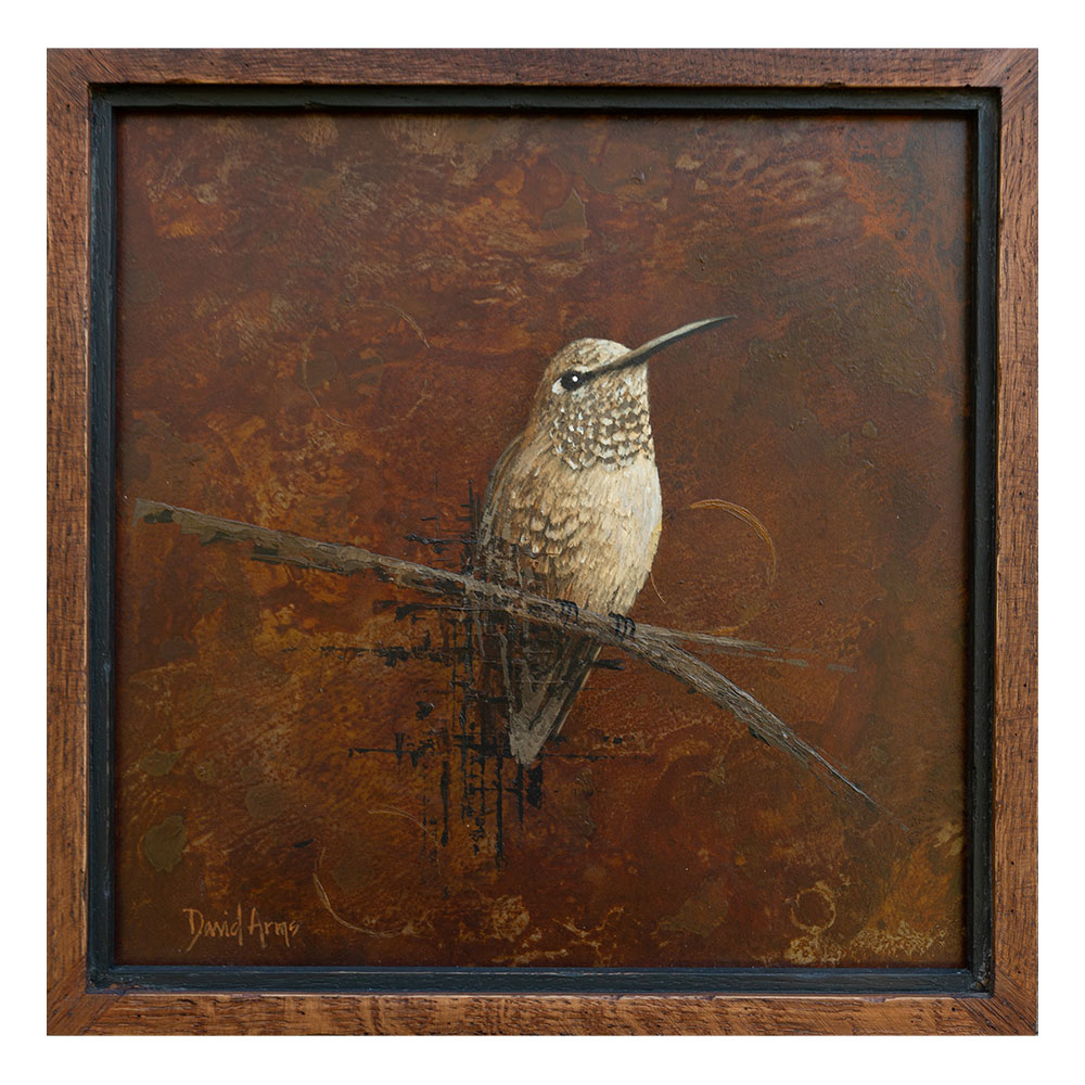 Hummingbird II • 12×12 (metal/wood)