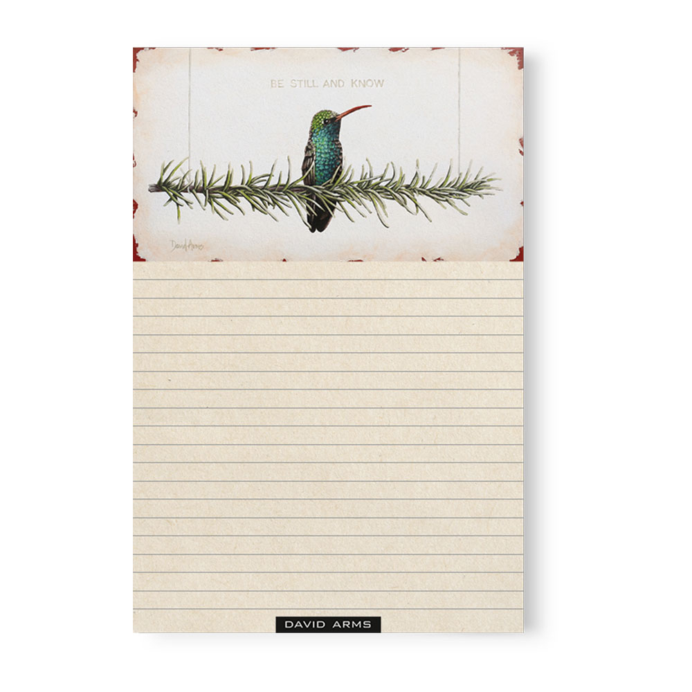 """Be Still And Know"" (rosemary) Notepad"