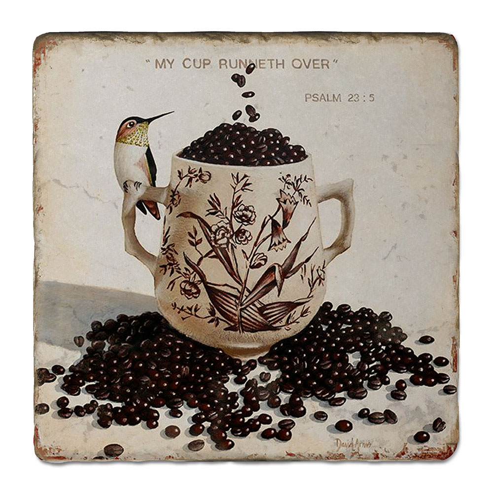 """""""My Cup Runneth Over"""" Trivet"""