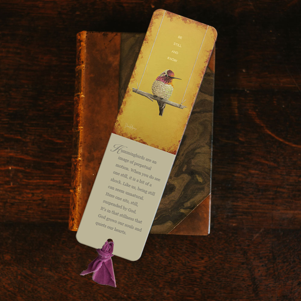 be-still-and-know-yellow-bookmark-product-image-lifestyle