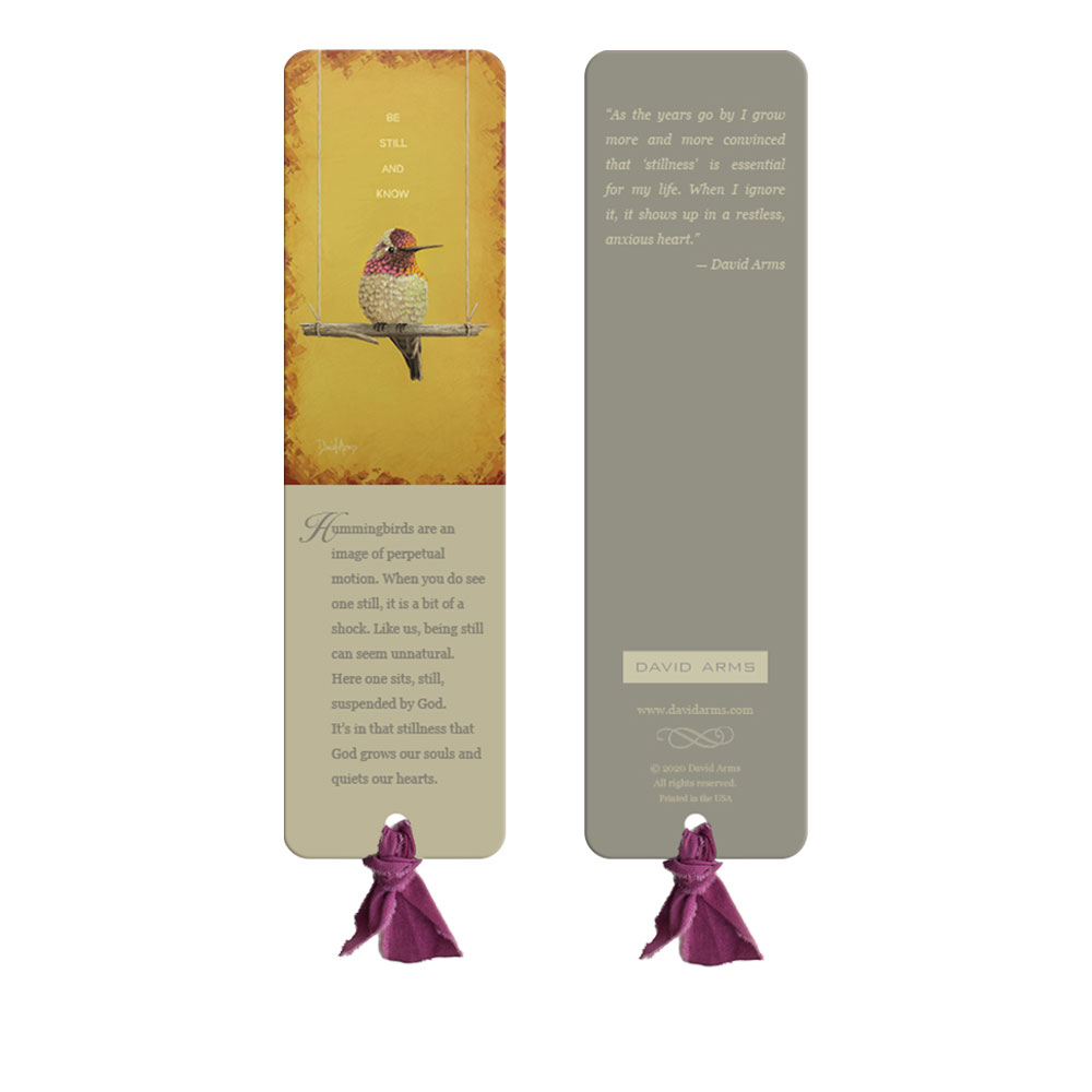 """Be Still And Know"" (Yellow) Bookmark"
