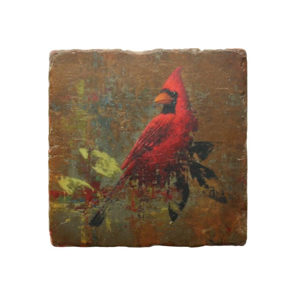 """""""Cardinal"""" Marble Coaster"""