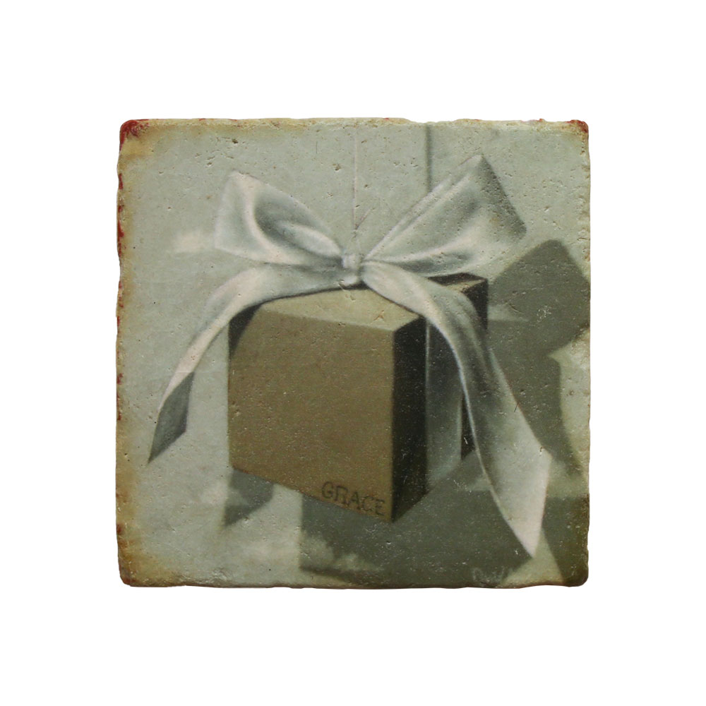 """Gift Of Grace"" Marble Coaster"