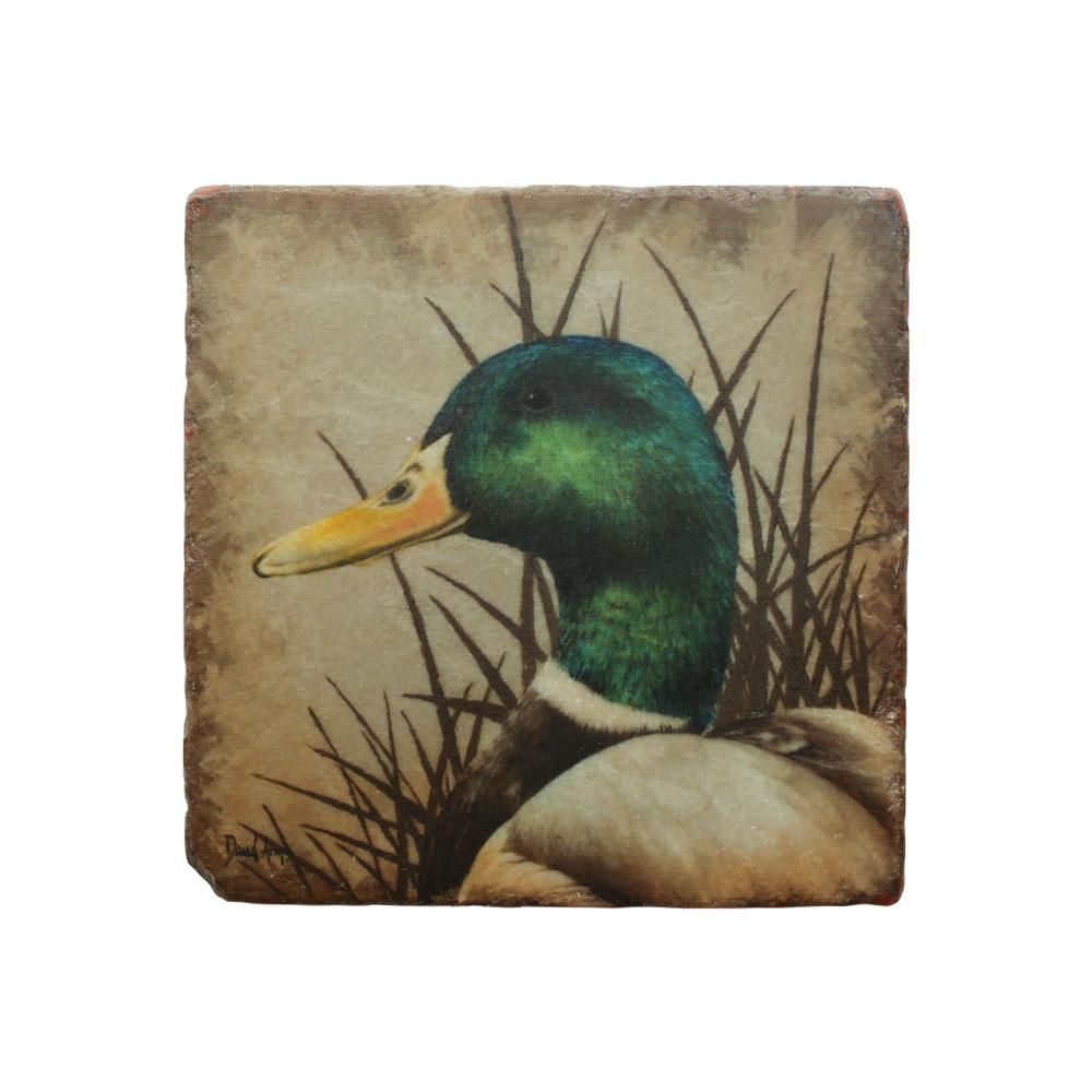 """""""Mallard"""" Marble Coaster"""