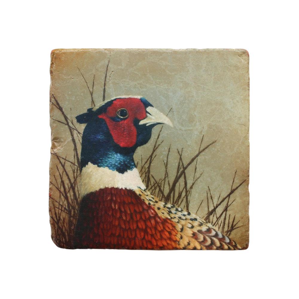 """Pheasant"" Marble Coaster"