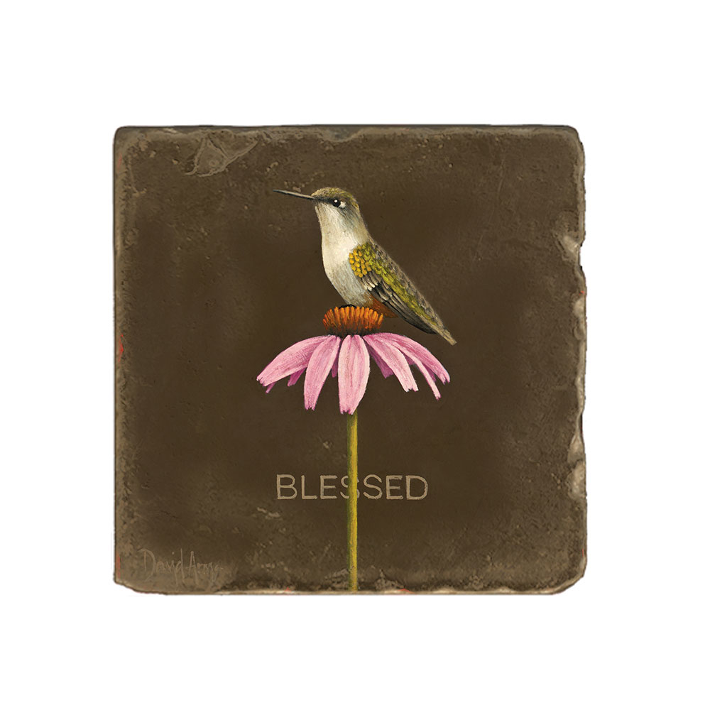 """Blessed"" Marble Coaster"