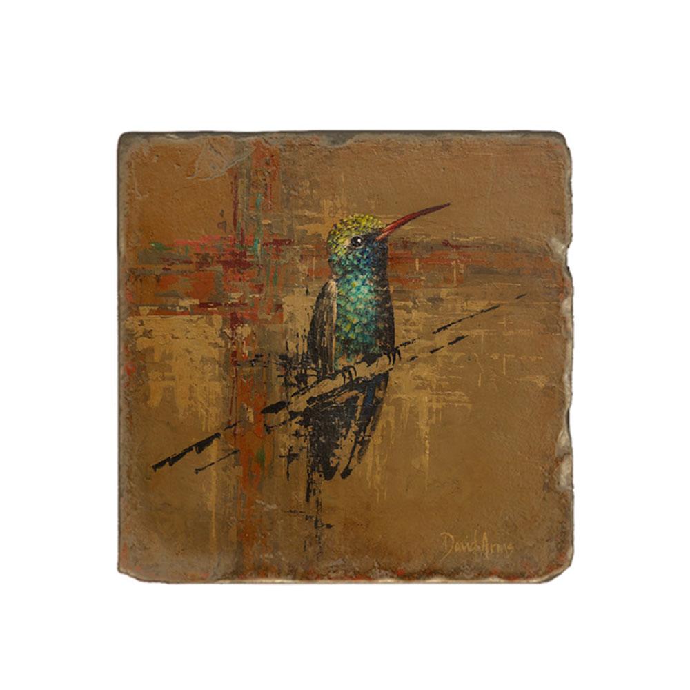 """Hummingbird"" Marble Coaster"