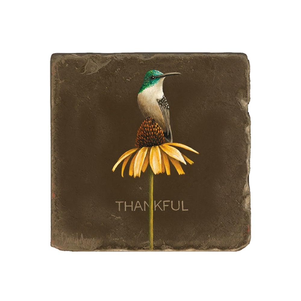 """Thankful"" Marble Coaster"