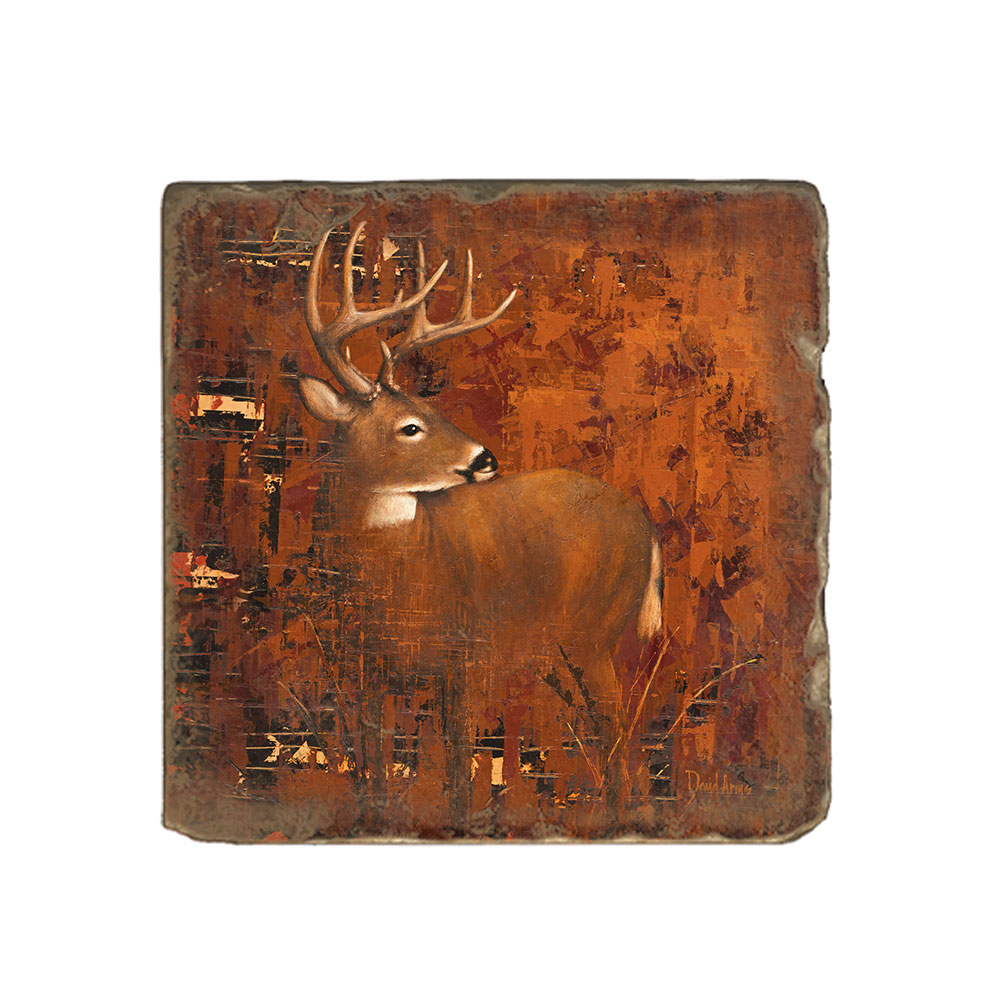 """Whitetail"" Marble Coaster"