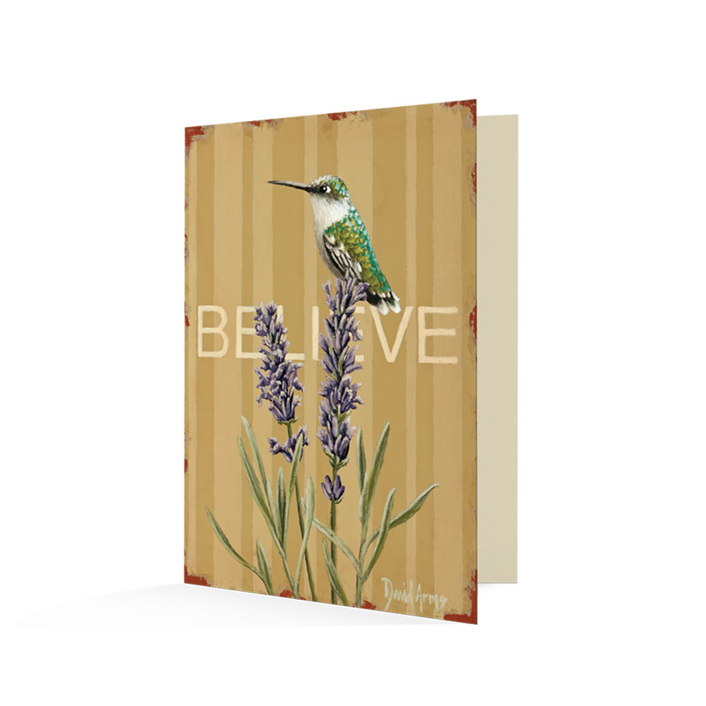 """Believe (Lavender)"" Notecards"