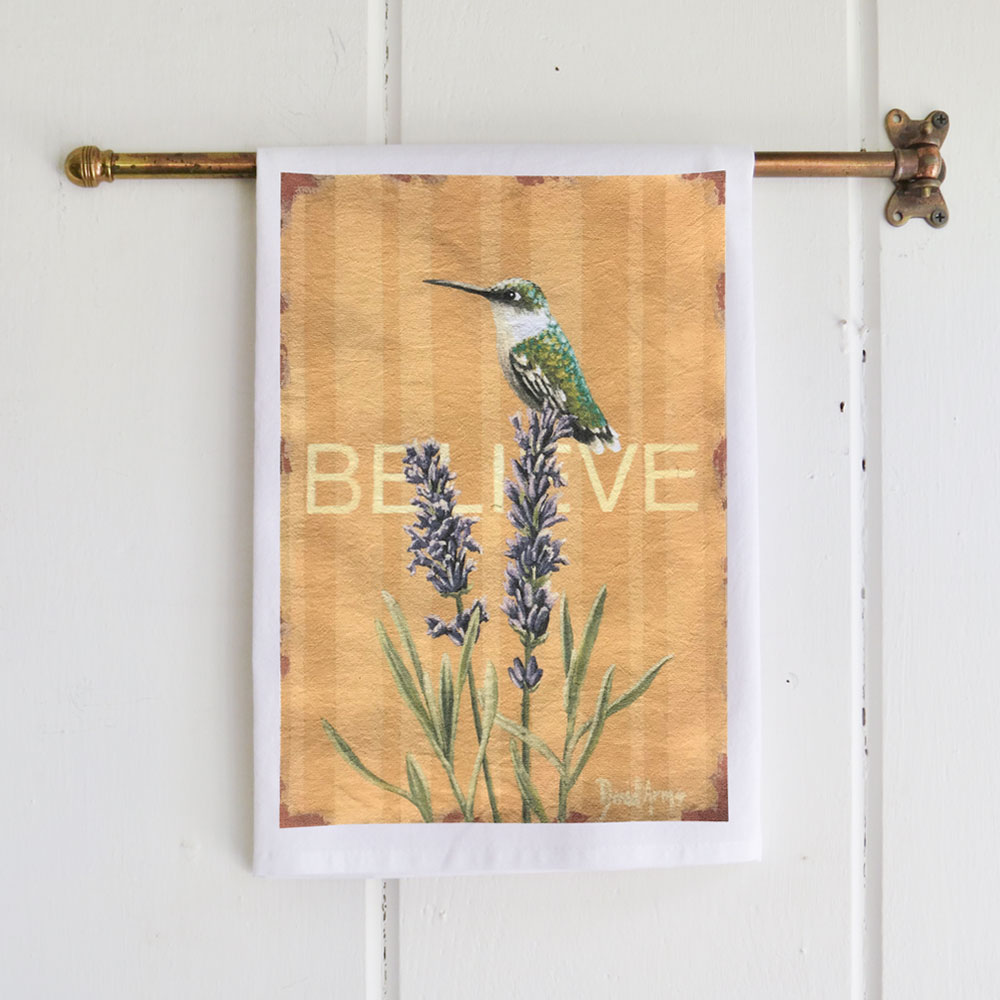 """Believe"" Flour Sack Tea Towel"