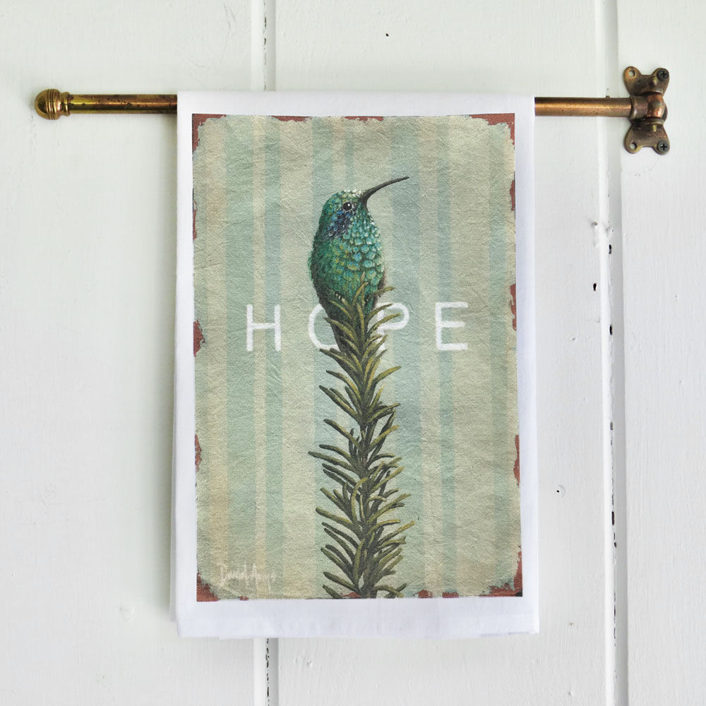 """Hope"" Flour Sack Tea Towel"