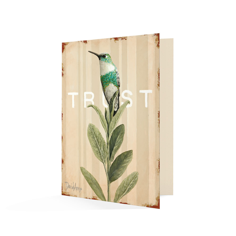 """Trust (Sage)"" Notecards"