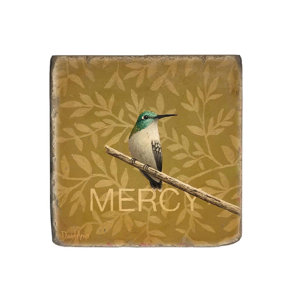 """Mercy"" Marble Coaster"