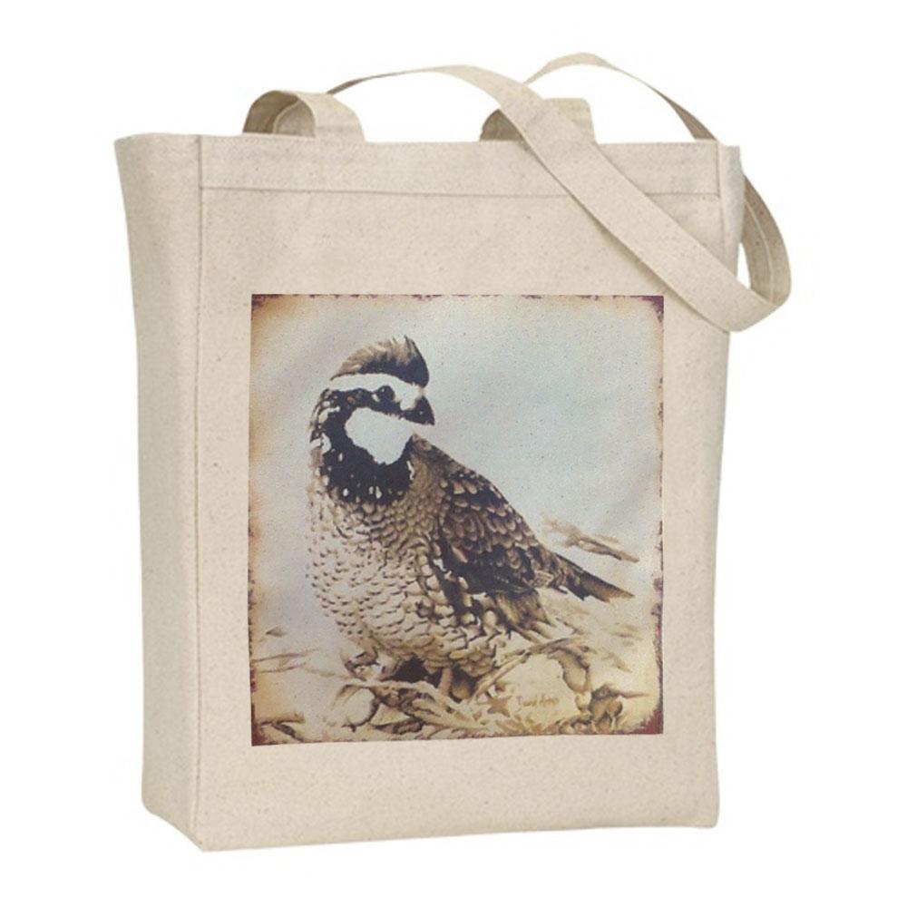 """Quail"" Canvas Tote Bag"
