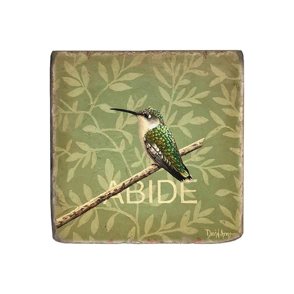 """Abide"" Marble Coaster"